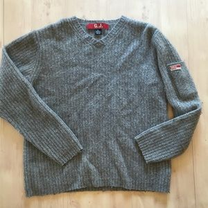 90's Guess Women's Sweater Lambswool Gray Sz XL